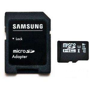 amazon: Samsung 32GB MicroSDHC Class 10 mit SD Adapter inkl. Versand 18,72€