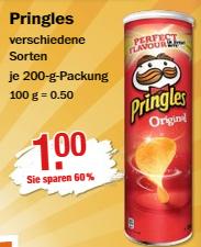 Pringles -verschiedene Sorten- je. 200 gr. Packung für 1 € / Trio Pack Fa Duschgel für 1,29 € @ V-Märkte München ab 20.08.