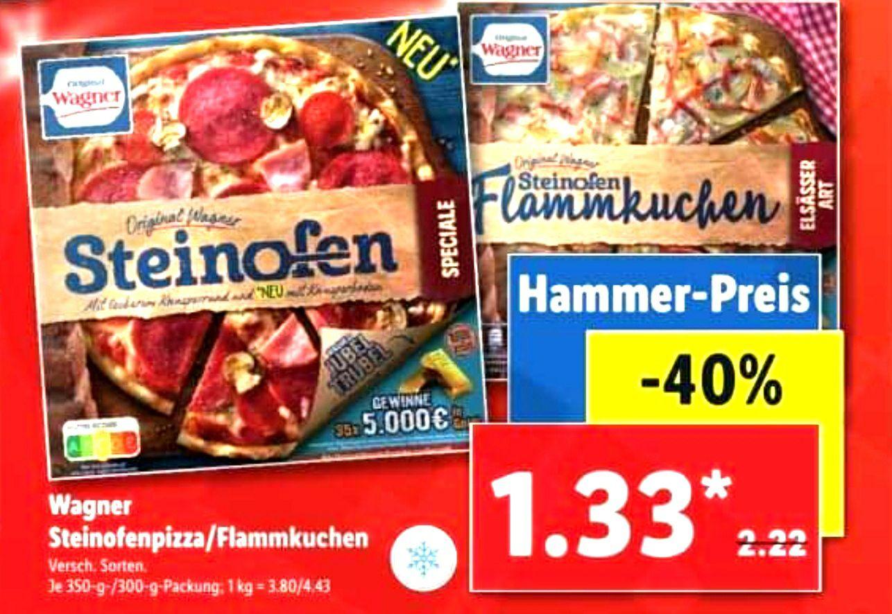 Wagner Steinofen & Flammenkuchen versch. Sorten für je 1,33€ [Lidl ab dem 24.08]