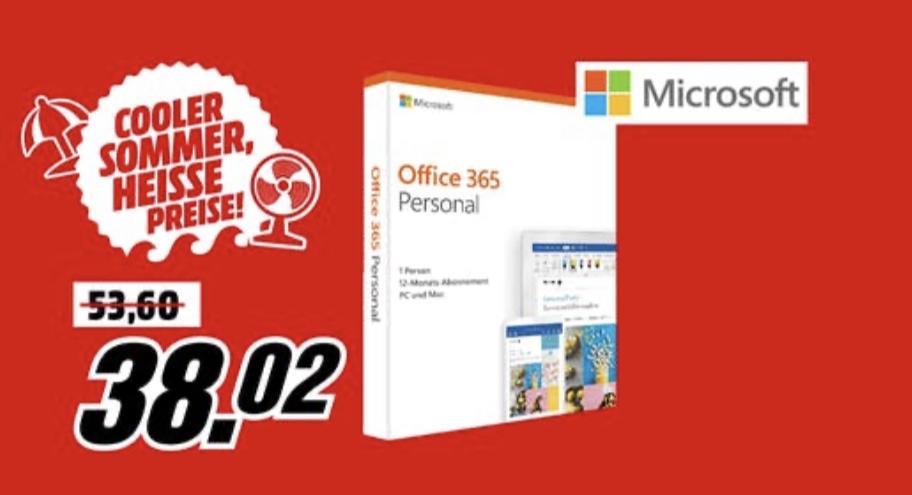 [Abholung] Microsoft Office 365 Personal, 1 Jahr, PKC (deutsch) (PC/MAC) (QQ2-00759)