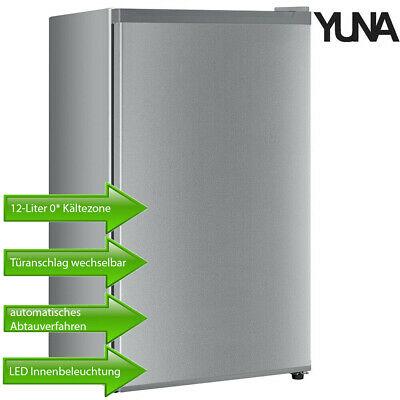 Yuna Standkühlschrank mit Gefrierfach und Beleuchtung 91 Liter in silber für 149.- € - Update jetzt 118,32 €