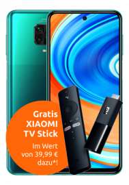 Xiaomi Redmi Note 9 Pro (128GB) + Mi TV Stick für 43,99€ Zuzahlung mit 5GB LTE Crash Tarif für 12,99€ / Monat + 50€ RNB [Vodafone-Netz]