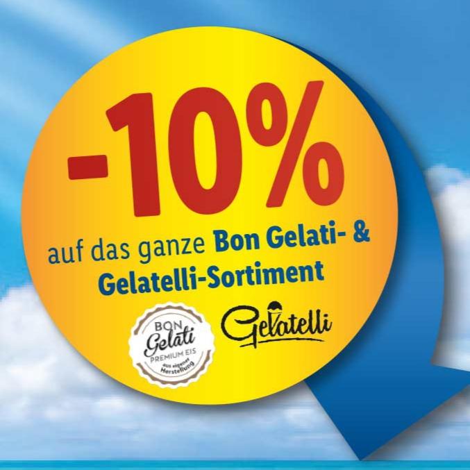 10% auf das ganze Bon Gelati & Gelatelli Eis-Sortiment bei Lidl