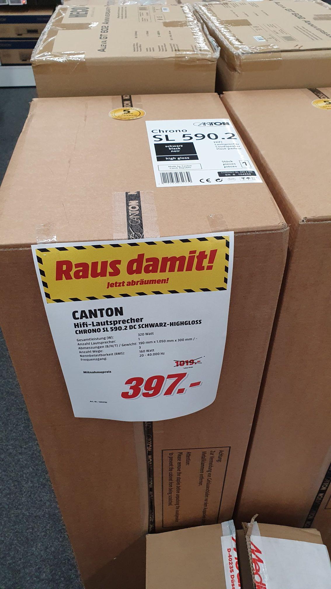 Lautsprecher Canton Chrono SL 590.2 für Stückpreis 397 € im Mediamarkt Düsseldorf Metrostraße
