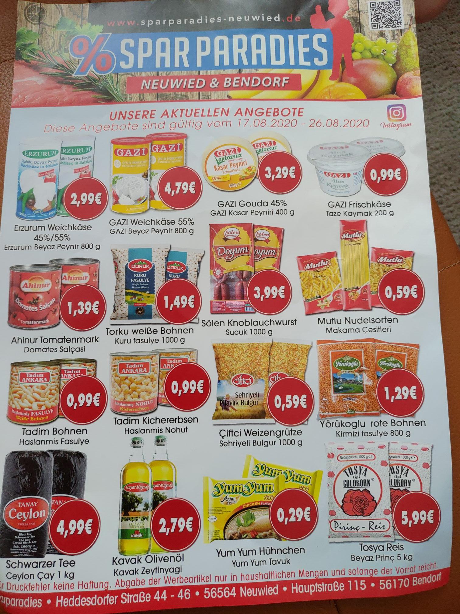 lokal - [Sparparadies in Neuwied und Bendorf] Tosya Reis 5kg für 5,99€ und vieles mehr