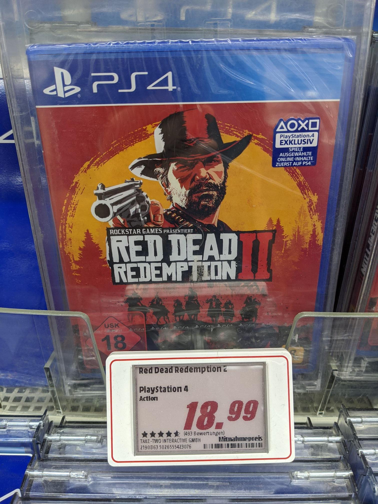 [Lokal MM Hamburg-Altona] Red Dead Redemption 2 PS4 für 18,99€