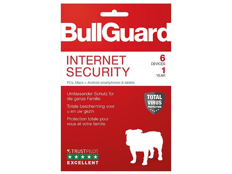 [Pearl.de] Bullguard Internet Security (6 Geräte, 1 Jahr) nur 5,95 € Versandkosten