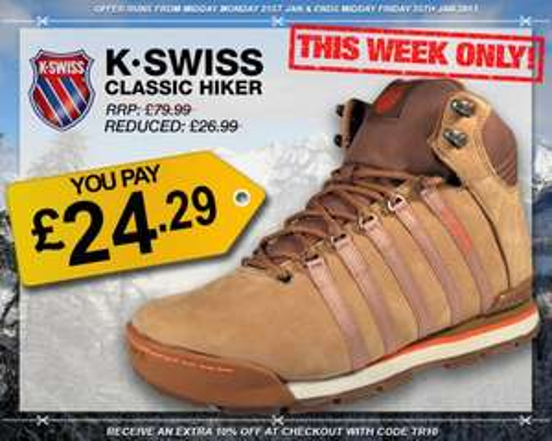 K-Swiss Classic Hiker €28.89 | RRP: €95,19 | @ Express Trainers