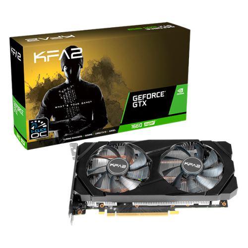 KFA2 GeForce GTX 1660 SUPER [1-Click OC], 6GB GDDR6, DVI, HDMI, DP