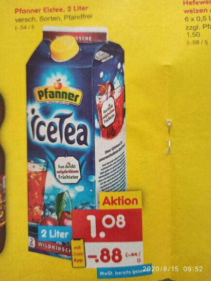 Pfanner Eistee 2 L für effektiv 0,81€ bei Netto Marken-Discount (mit Deutschland Card und Netto App)