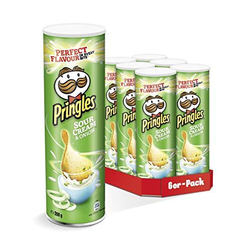 Pringles Chips verschiedene Sorten | 6er Party-Pack (6 x 200g), pro Dose 1,07€, im 15% Sparabo sogar nur 0,93€- Prime*Sparabo*