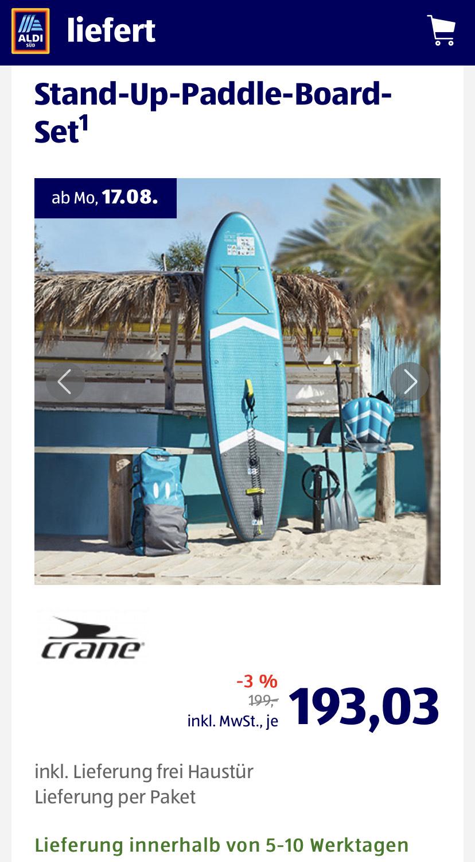 ALDI SÜD (online) ab 17.08. - Stand Up Paddle Set SUP