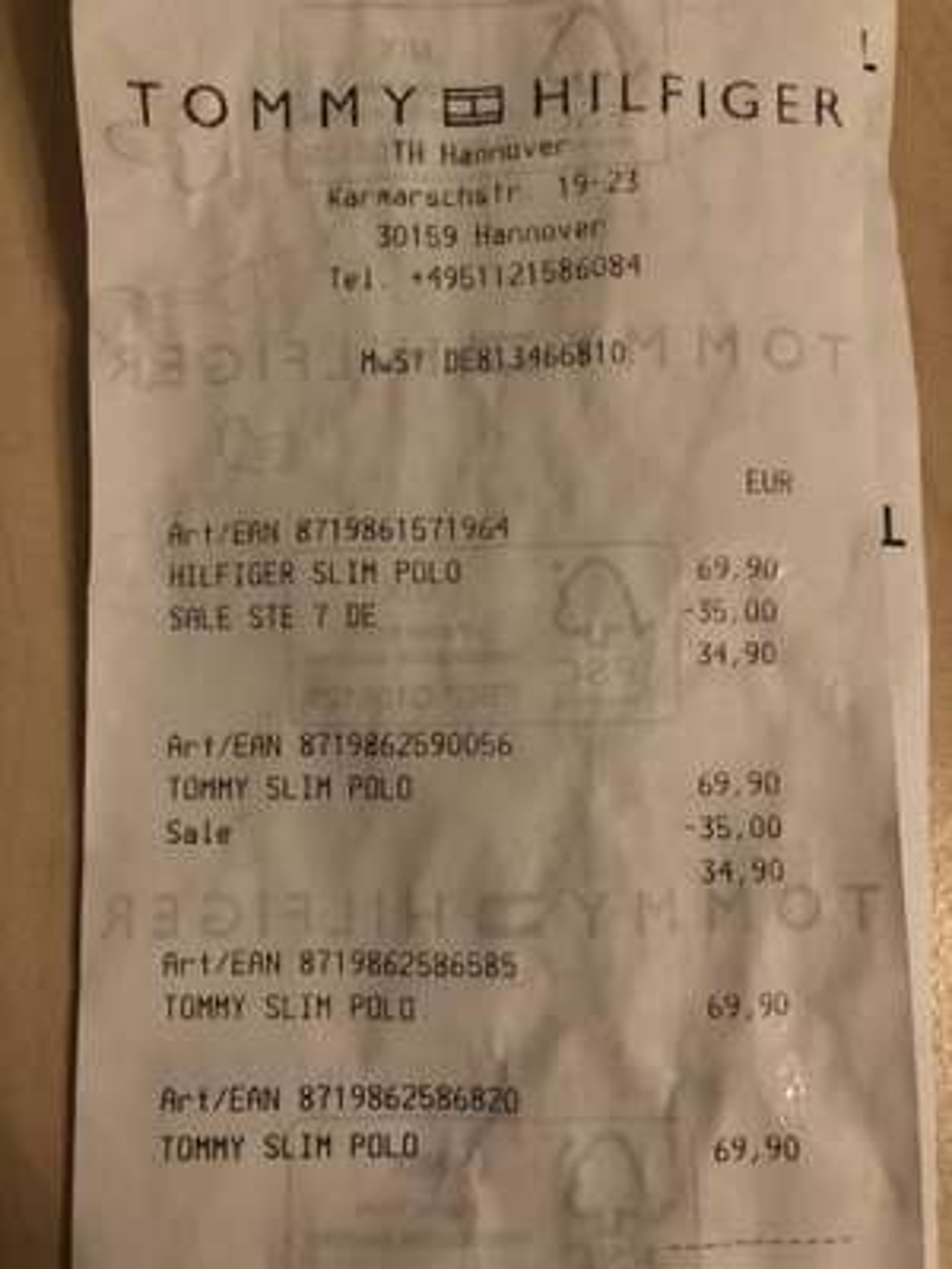 [Lokal Hannover] Tommy Hilfiger Poloshirts -50%