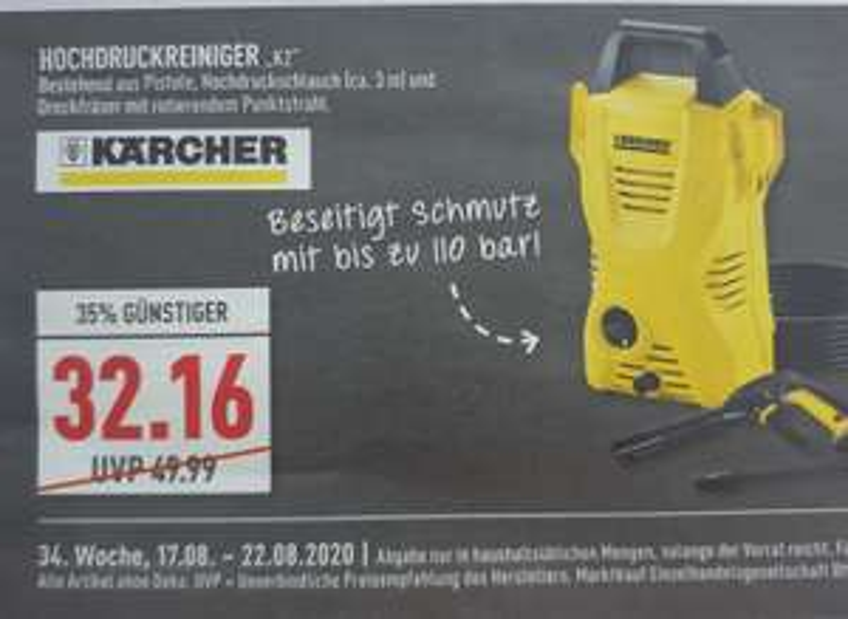 Kärcher K2 im Marktkauf 17.-22.8
