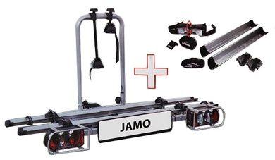 Eufab Jamo Fahrradträger für die Anhängerkupplung inkl. Wandhalterung und Erweiterung für 3 Fahrräder