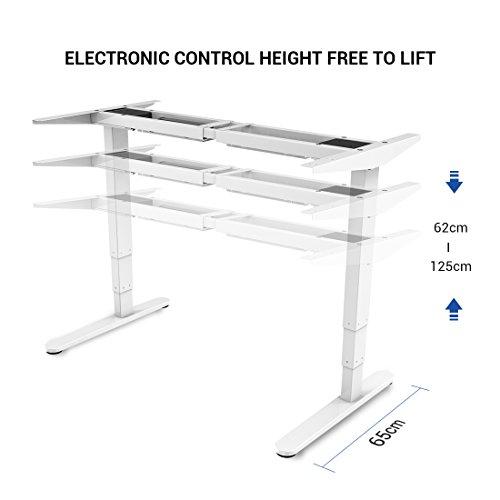 Höhenverstellbarer Schreibtisch Flexispot E5