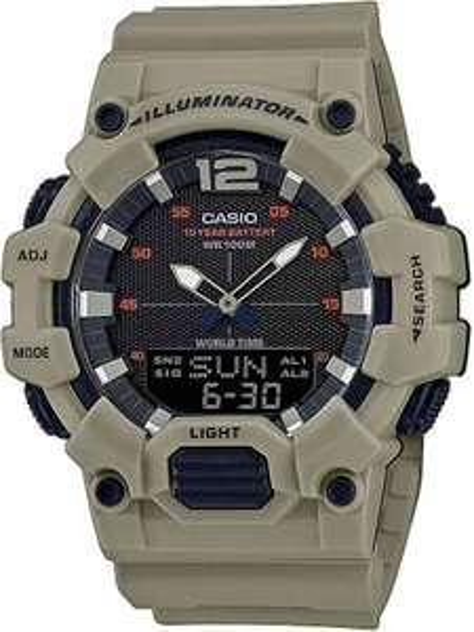 Casio Collection Armband-Uhr »HDC-700-3A3VEF«, Farbe khaki, Globus Supermarkt
