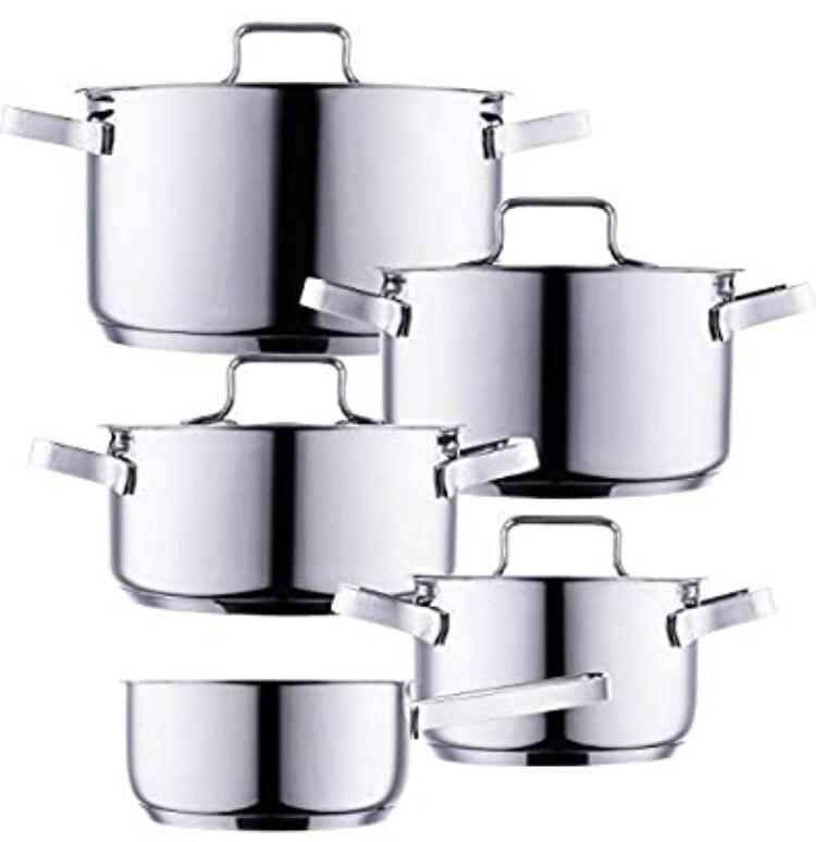 Style'n Cook Bingen Edelstahl Topfset (5 Töpfe + 4 Deckel)