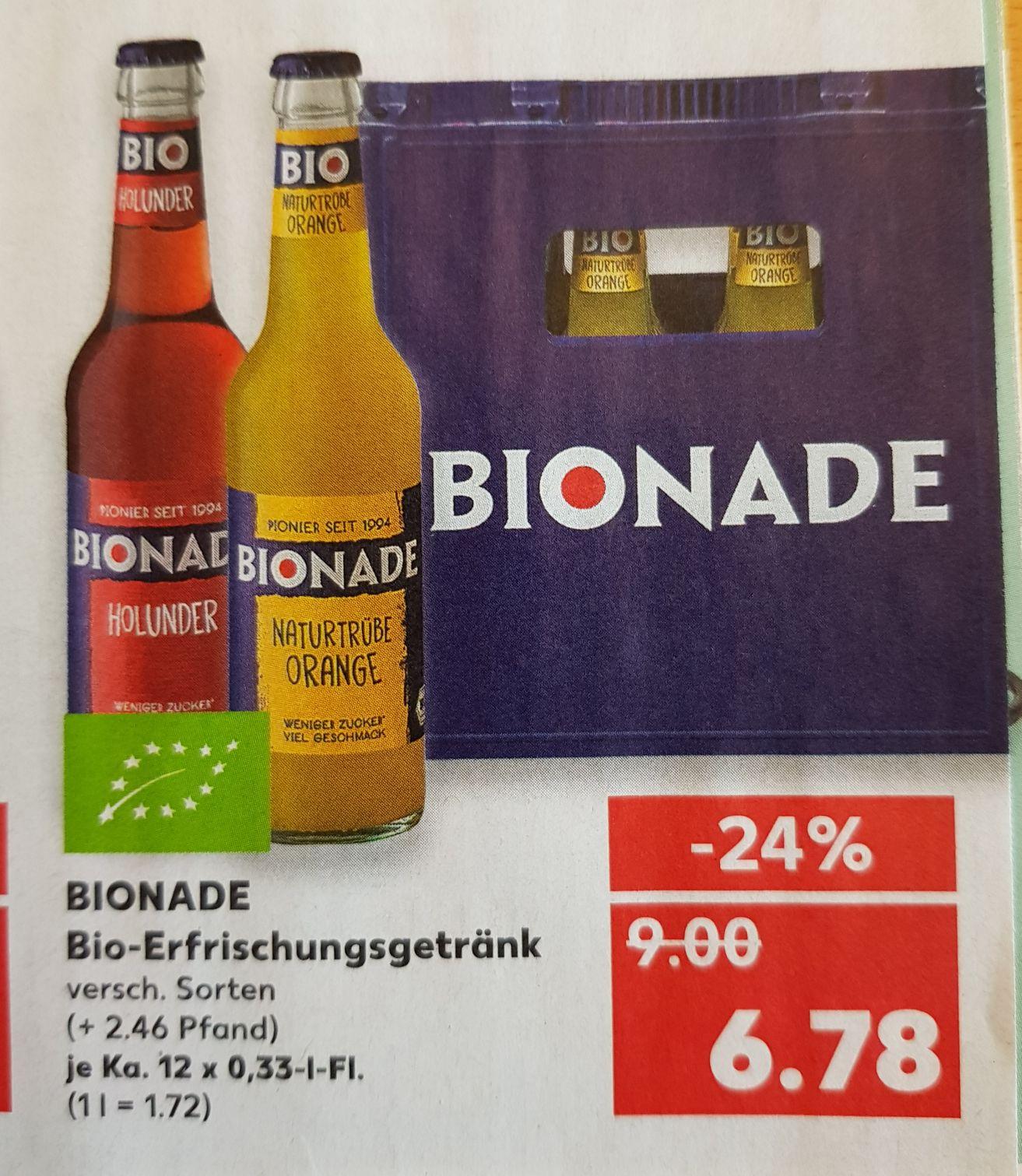 Kasten Bionade nur noch heute günstig bei Kaufland (lokal)