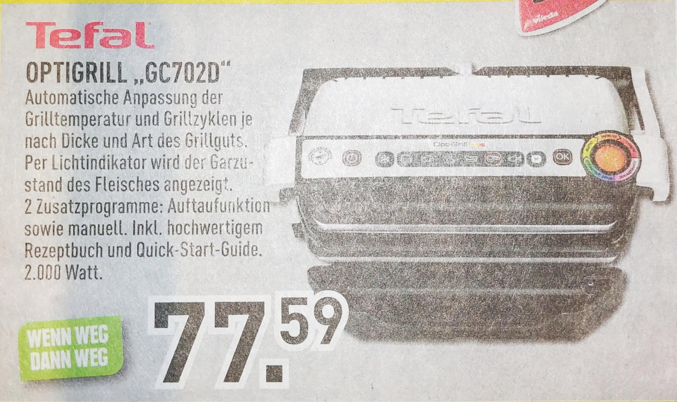Tefal Optigrill GC702D - Lokal 41236