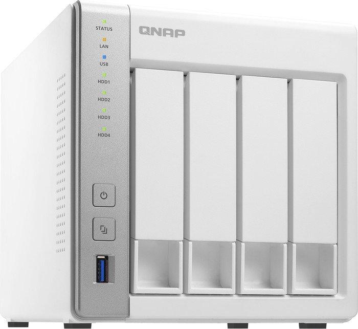 QNAP NAS-Server TS-431P, USB 3.0, Leergehäuse für Festplatten, 4 Einschübe