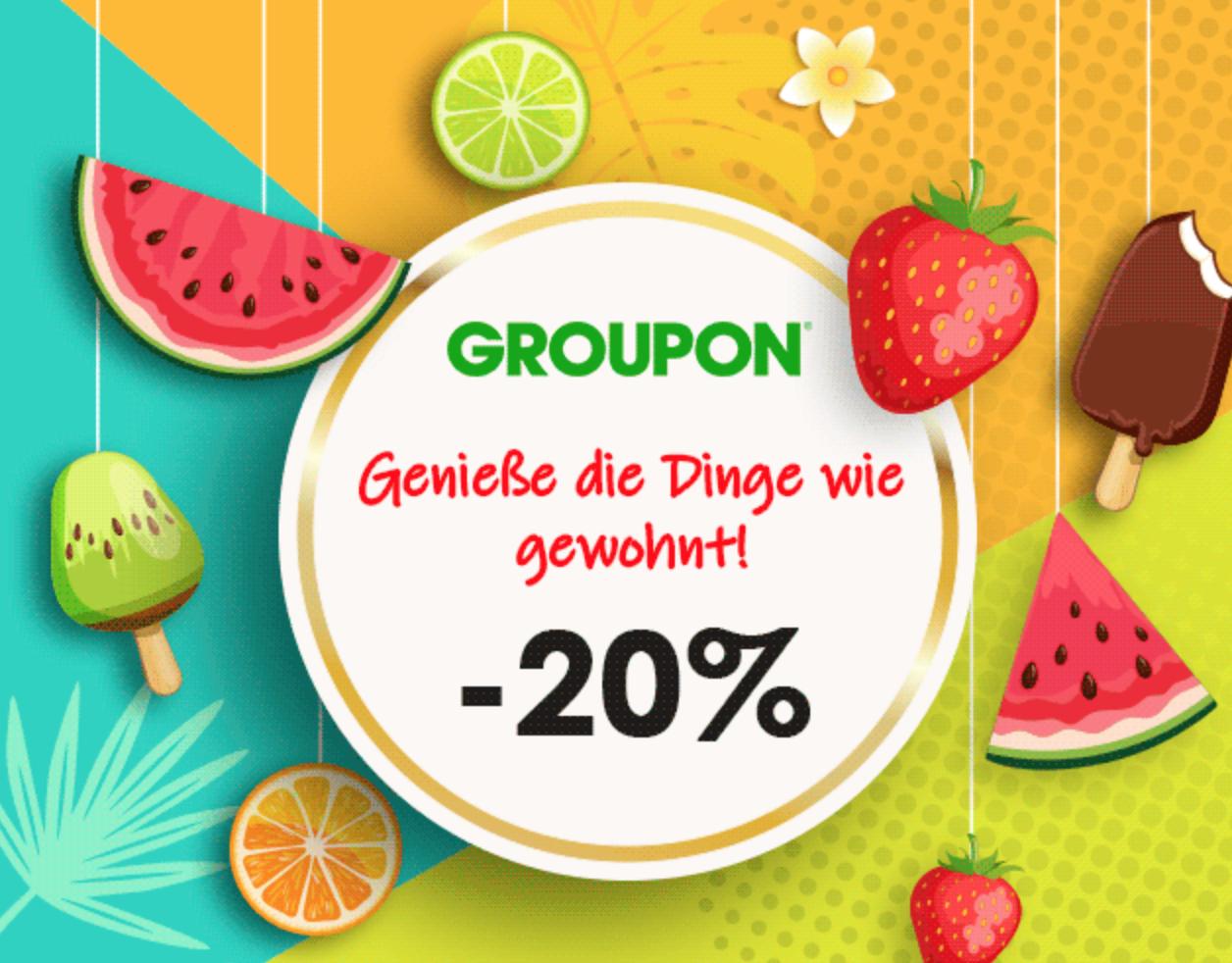 20% Gutschein für Groupon
