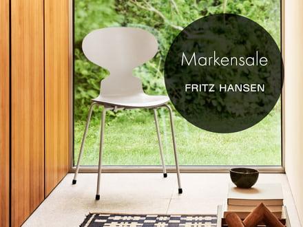 Sammeldeal: Markensale mit 20 % Rabatt auf alles von Fritz Hansen, z.B. Serie 7, Schwan, egg Chair, Ameise, Grand prix Stuhl, Drop, Ro