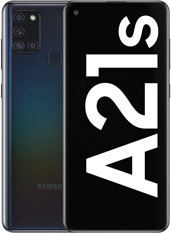 """Samsung Galaxy A21s 6,5"""" Dual-SIM Smartphone 4/64GB (HD+ AMOLED, 48 MP Quad-Cam, USB-C, 5.000 mAH) schwarz"""