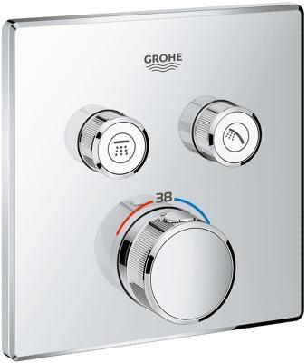 Grohe Grohtherm SmartControl Thermostat, mit 2 Absperrventilen, chrom (29124000)