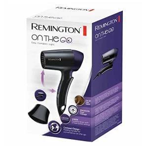 Remington D2400 Haartrockner On The Go (1400 Watt, Stylingdüse, Schwarz/Lila) für 10€ (Amazon Prime & Saturn Abholung)