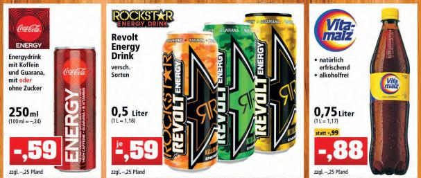 [Thomas Philipps 17.08.-25.08.] Coca Cola Energy mit oder ohne Zucker 250 ml Dose