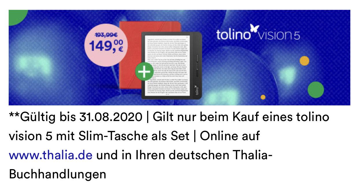 Preis Fehler!? 2x Tolino Vision 5 für 149