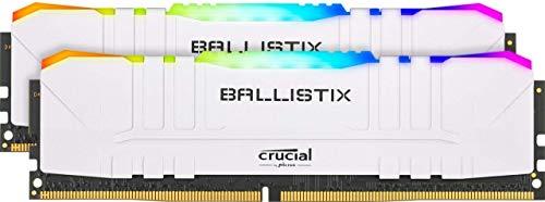 Kit Memory RGB DDR4 Crucial Ballistix 16GB (8GB x 2), 3000Mhz, CL15, weiß
