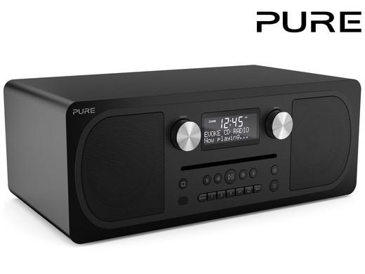 "PURE Stereo-All-in-One-Musikanlage ""Evoke C-D6"" (Digitalradio, CD, DAB/DAB+, BT, Weckfunktion, Sleeptimer, 20 Senderspeicher, AUX) [iBOOD]"