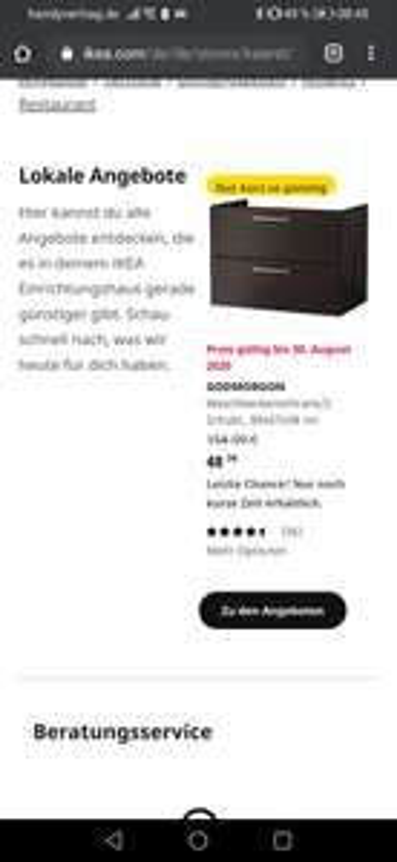 Ikea Kaarst Godmorgon Waschbeckenunterschrank