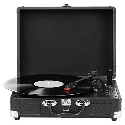 (PRIME) MEDION E64065 Schallplattenspieler, Retro Koffer Plattenspieler mit USB Digital Encoder