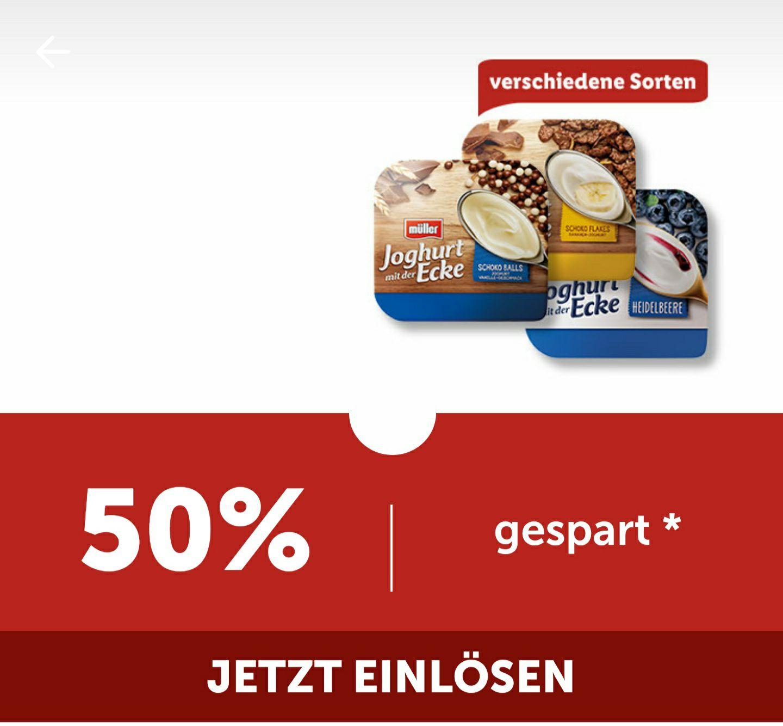 Joghurt mit der Ecke 50% rabatt per lidl plus app