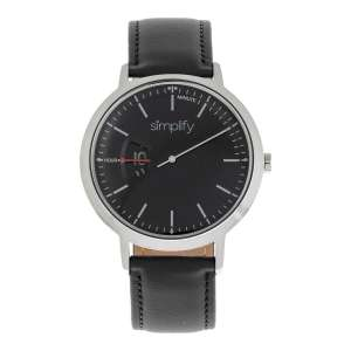 Simplify Leder-Armbanduhr 6500