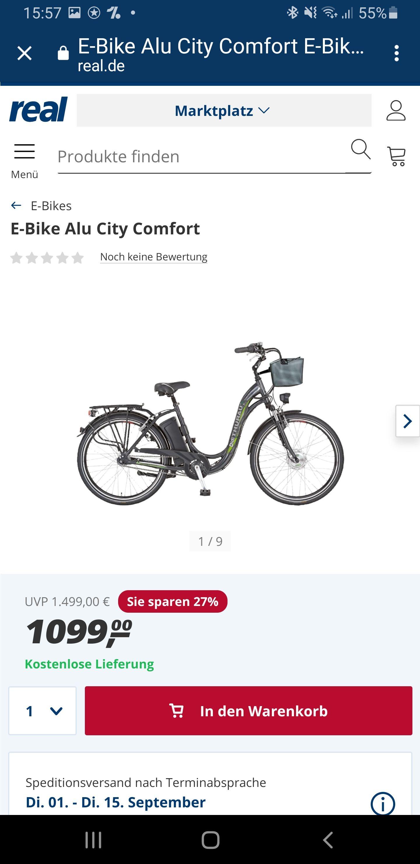 E bike Alu City Comfort