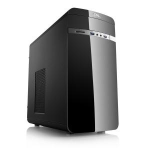 [CSL] Sprint 5826 PC, Ryzen 5 3400G, 16 GB DDR4-RAM, 240 GB M.2 SATA SSD, MSI A320M-A PRO MAX, nOS