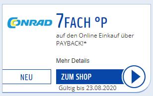 [Payback] 7-fach-Punkte für Conrad bei Payback