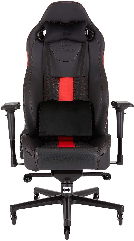 Corsair T2 Road Warrior (Kunstleder Gaming Büro Stuhl, EinfacheMontage,Ergonomisch schwenkbar,verstellbareSitzhöhe [Amazon]