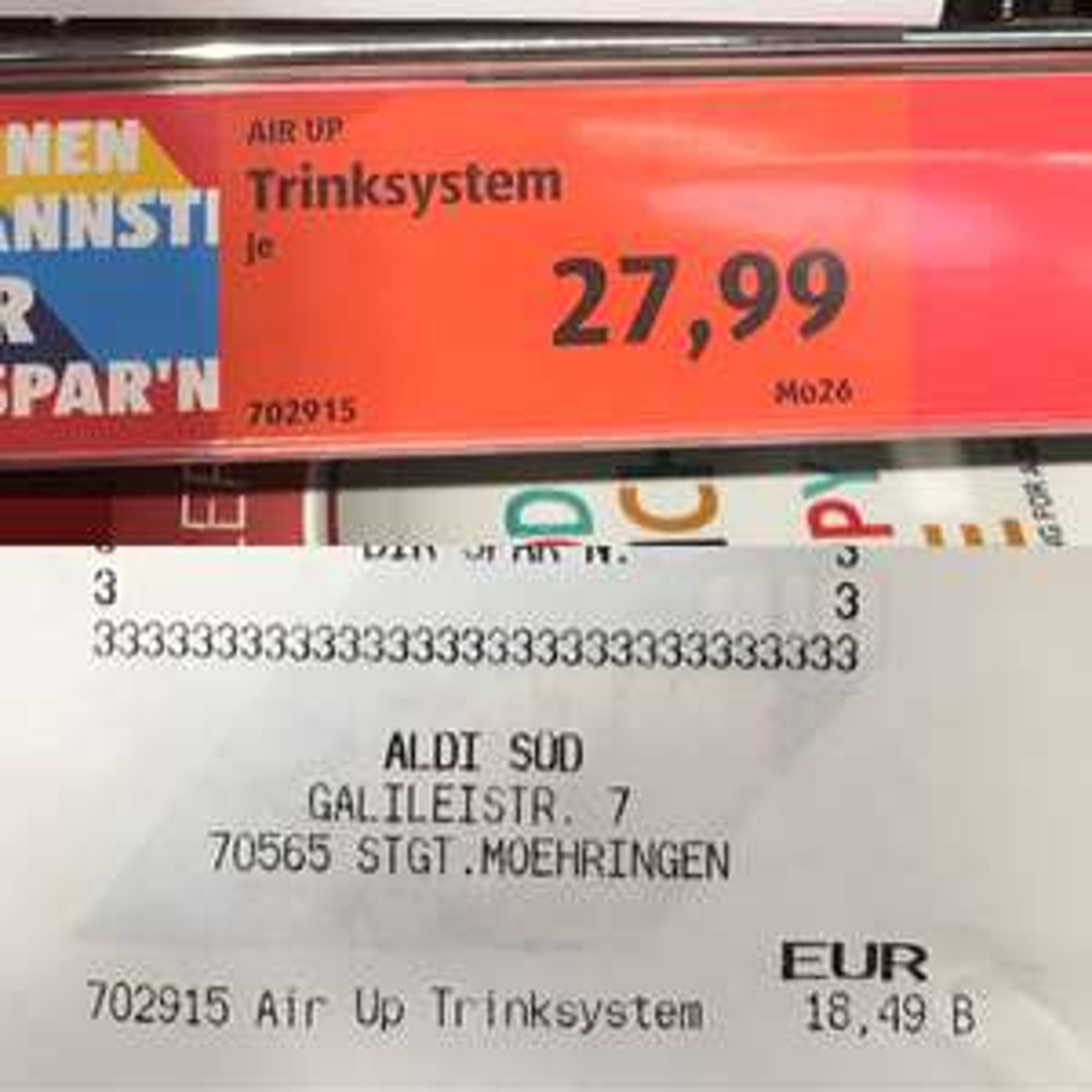 (Lokal Stuttgart) - Preisfehler [Aldi Süd] AirUp Trinksystem