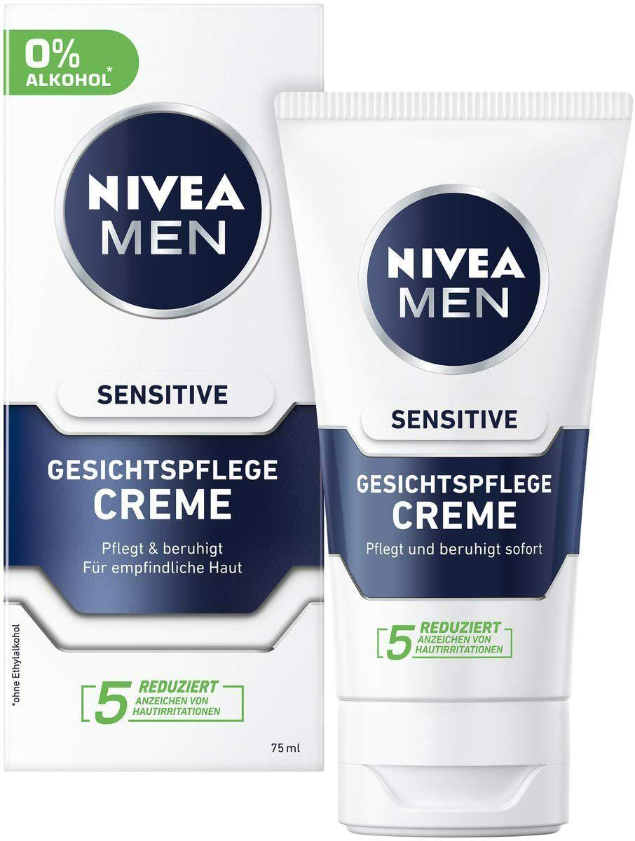 (Prime) 2x75ml Nivea Men Sensitive Gesichtscreme
