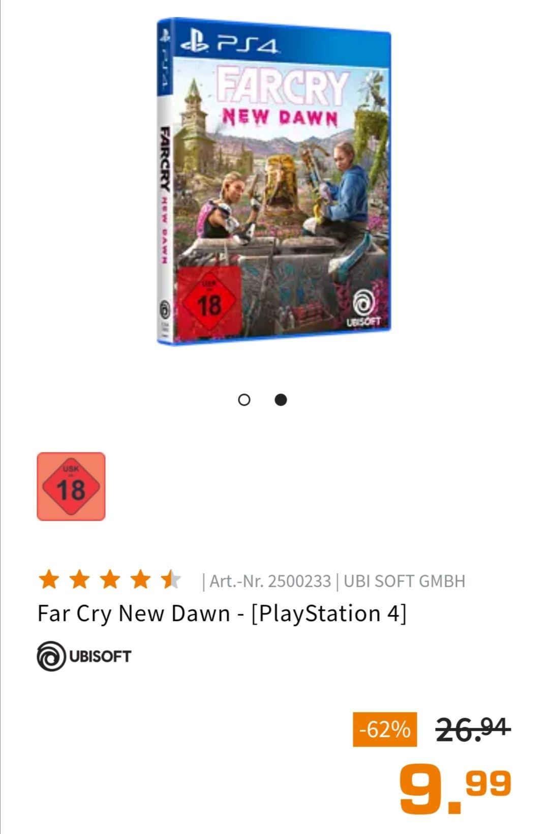 (Saturn Abholung) Far Cry New Dawn PS4 9,74€