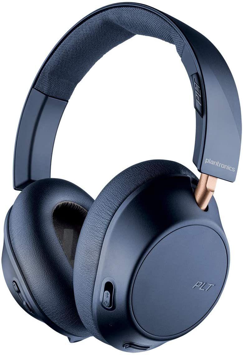 Plantronics BACKBEAT GO 810 Bluetooth-Überkopf Kopfhörer, Memory Foam, Over-Ear Navy Blau [Amazon]