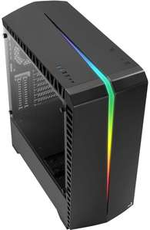 """AeroCool Scar (48.5l, bis ATX, 2x 3.5""""/2.5"""", 1x 2.5"""", 120mm-Lüfter hinten, Glasfenster, RGB-Beleuchtung, Kabelmanagement, Staubfilter)"""
