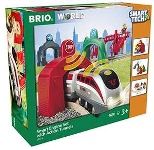 BRIO Bahn - Großes Smart Tech Reisezug Set mit Action Tunnels für 43,76€ (Amazon & Media Markt Abholung)