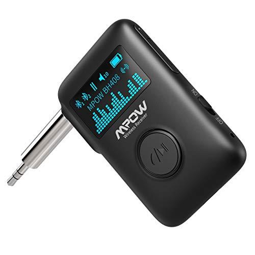 [Prime] Mpow BH408AB Bluetooth-Empfänger (BT5.0 auf 3.5mm Klinke, OLED-Display, ~20h Akkulaufzeit, Dual-Kopplung, Freisprechfunktion)