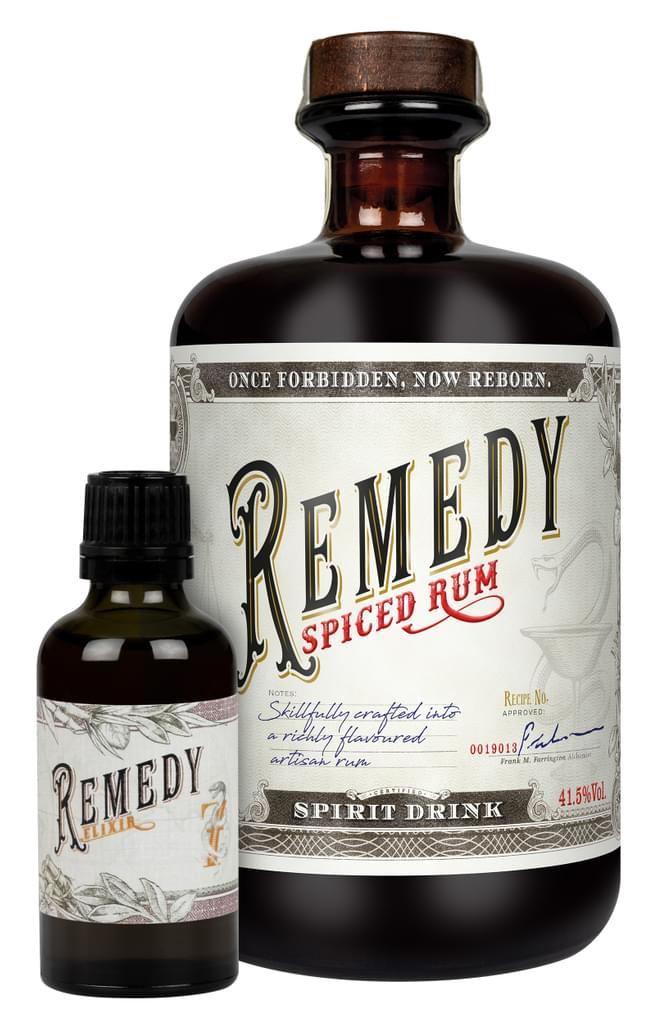 Remedy Spiced Rum + Remedy Elixir Miniatur Karibik   41,5 % vol   0,7 l + 0,05 l
